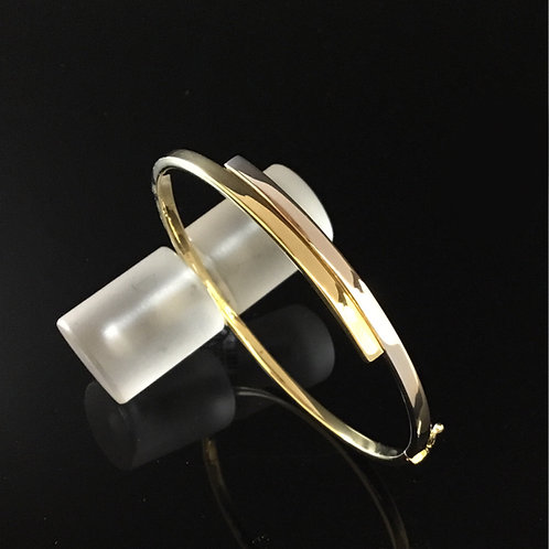 Yellow and White Gold Bangle