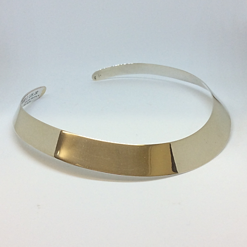 Stunningly Simple Sterling Silver Collar Necklet