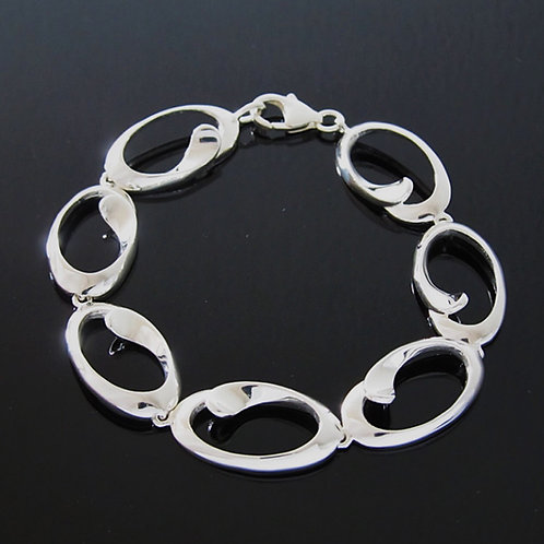 Contemporary Loop Bracelet - Sterling Silver