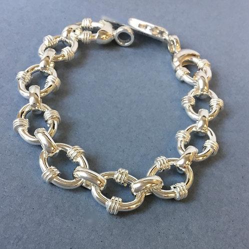 Heavy Weight Silver Bracelet - Sterling Silver