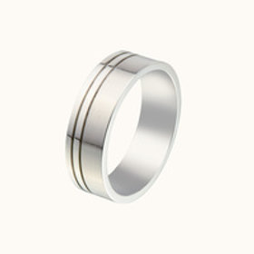 Gents Stainless Steel Ring - Size R