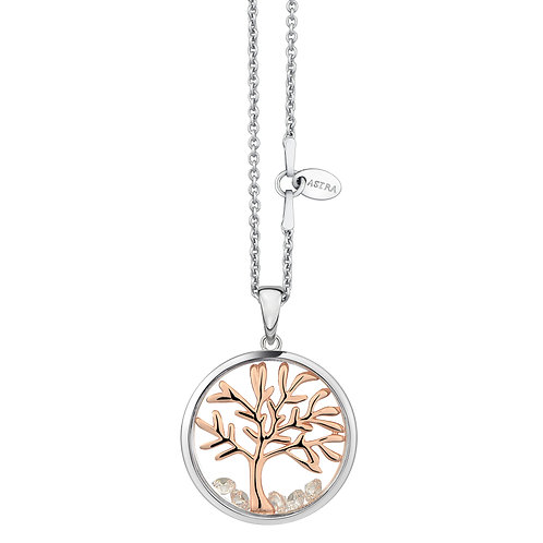 ASTRA TREE OF LIFE ROSE GOLD NECKLACE FAMILY BIRTHDAY GIFT PRESENT