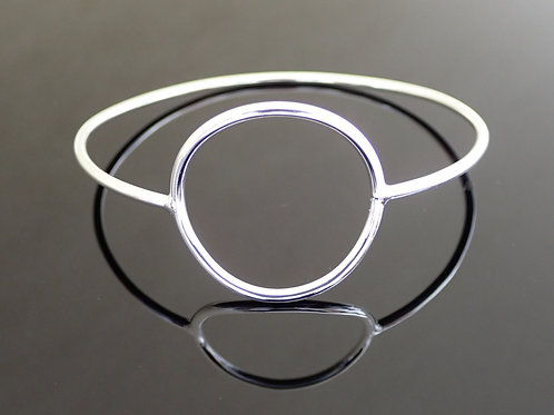 Open Circle Bangle - Sterling Silver