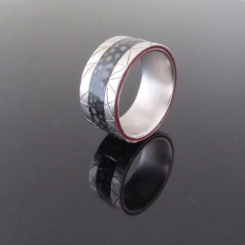 Kenzo designer sterling silver & resin ring
