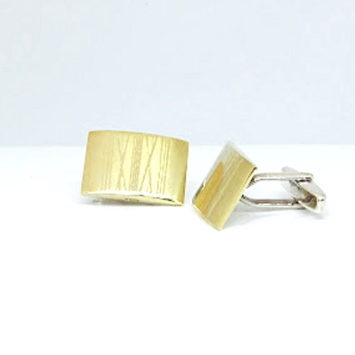 14ct Gold Geometric Design Cufflinks