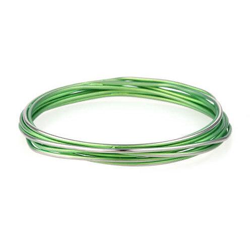 Titanium Chaos Bangle -Fresh Green