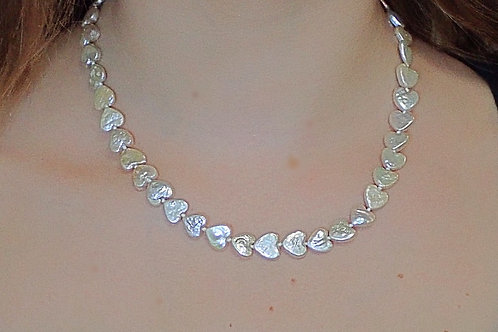 Necklace of Heart Shaped Freshwater Pearls