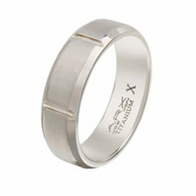 Gents Titanium Ring - Size R1/2