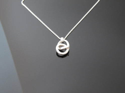 Chris lewis contemporary knot necklace in sterling silver
