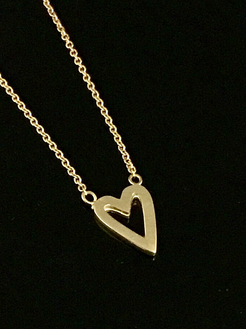 Heart Necklace  -  9ct Gold
