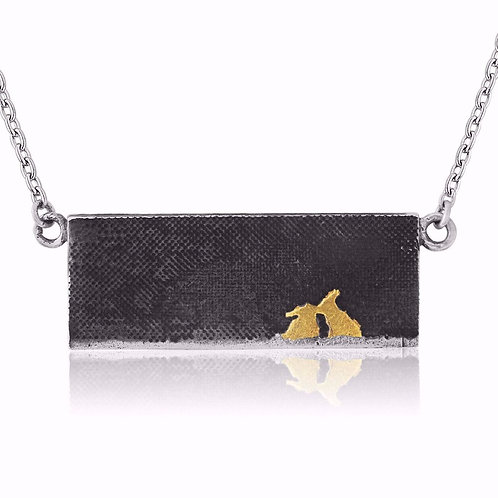 Charlotte Lowe  - Golden Bunny Kiss Rabbit Necklace