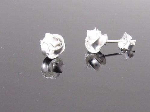 8mm sterling silver knot stud earring
