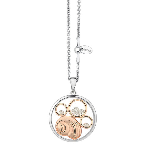 ASTRA TREASURES ROSE GOLD NECKLACE MAYA BIRTHDAY, OCEAN