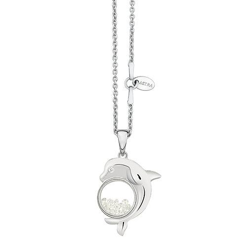 ASTRA FREE SPIRIT MAYA HOPE DOLPHIN WHITE GOLD NECKLACE GIFT PRESENT FREE SPIRIT