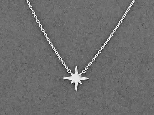 Star Pendant Necklace - Sterling Silver