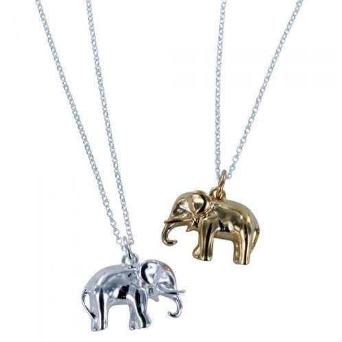 Sterling silver elephant necklace jewellery store barnstaple sterling silver elephant necklace mozeypictures Image collections