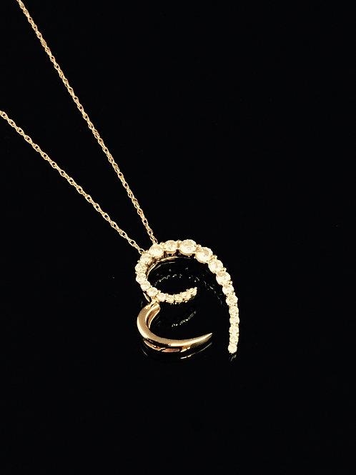 Diamond Set Heart - 14kt Red Gold