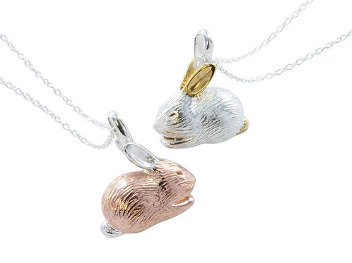 Rose Gold Vermeil Sterling Silver Bunny Necklace