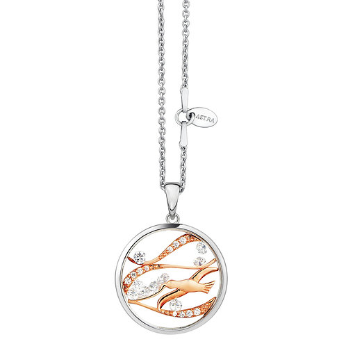 ASTRA FREE BIRD ROSE GOLD NECKLACE MAYA HOPE AVIAN ANIMAL SKY