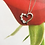 Thumbnail: Silver & CZ Heart Necklace - Sterling Silver