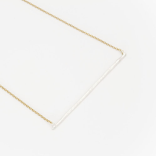Deco Echo Solid Silver Stick Necklace