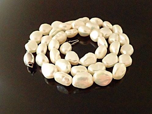 Cath   White Baroque Pearls