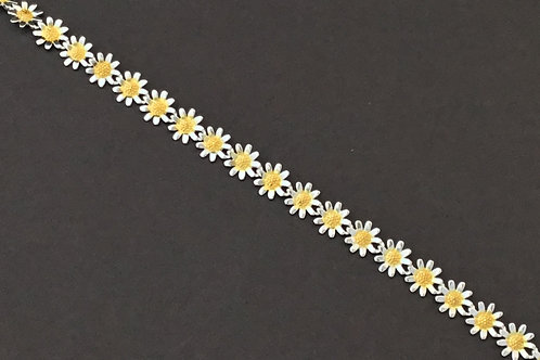 Mini Daisy Bracelet - Sterling Silver with Gold Plate