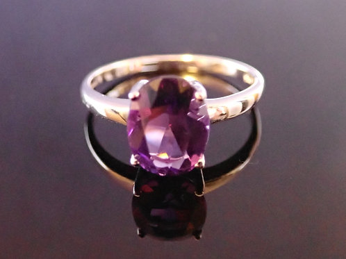 Amethyst Ring - 9ct White Gold