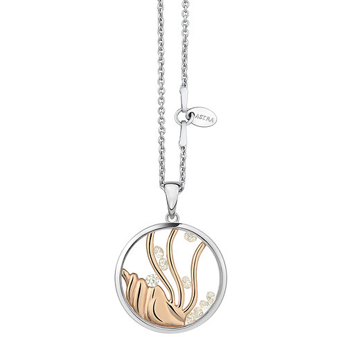 ASTRA SOUND OF THE SEA MARINE BEACH OCEAN ROSE GOLD NECKLACE