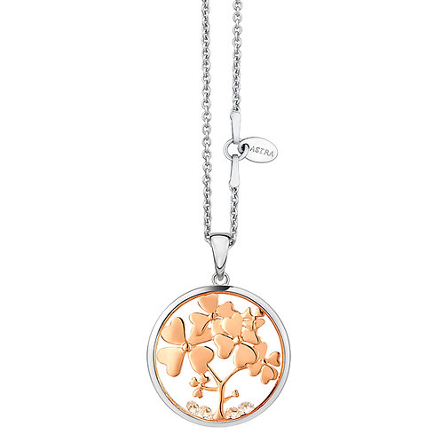 ASTRA TREE OF LOVE FLOWER ROSE GOLD MAYA NECKLACE