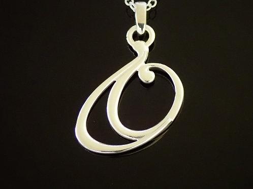 Ortak Double Swirl Pendant - Sterling silver