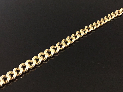 9ct Rose Gold Graduated Curb Necklace