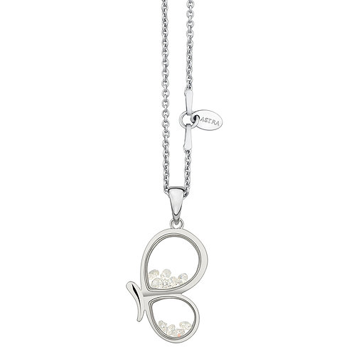 ASTRA BUTTERFLY MOMENT SILVER NECKLACE BIRTHDAY ANIMAL MAYA