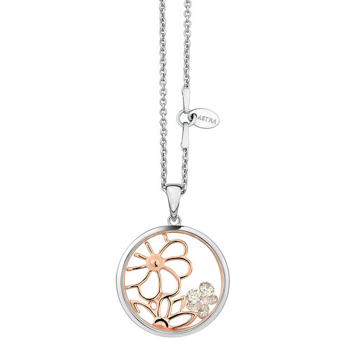 ASTRA SPRING, MAYA COLLECTION, FLOWER THEME, NECKLACE, ROSE GOLD