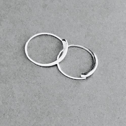 Creole Hoop Earrings - Sterling Silver