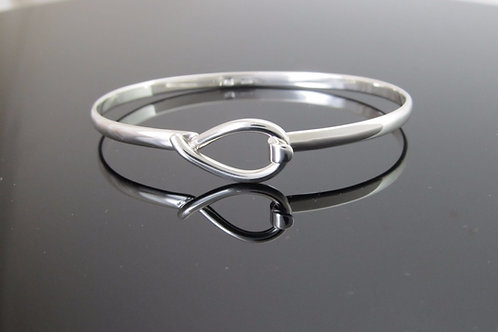 sterling silver bangle with hook loop decoration