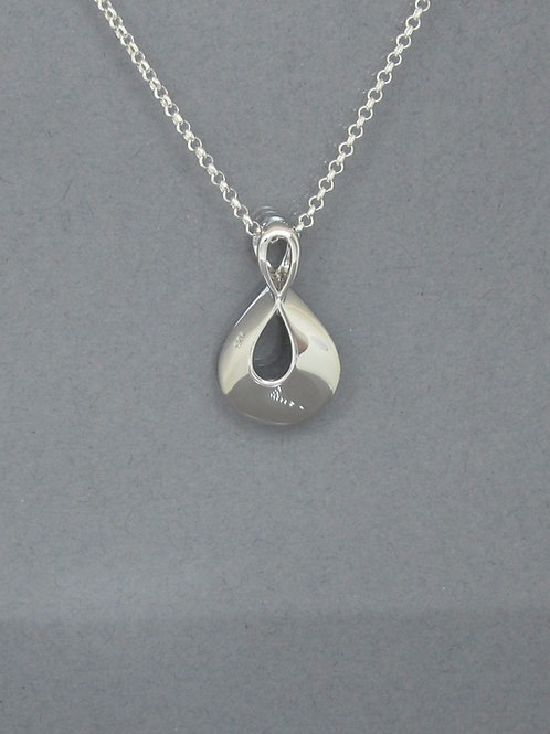 Figure of Eight Sterling Silver Pendant