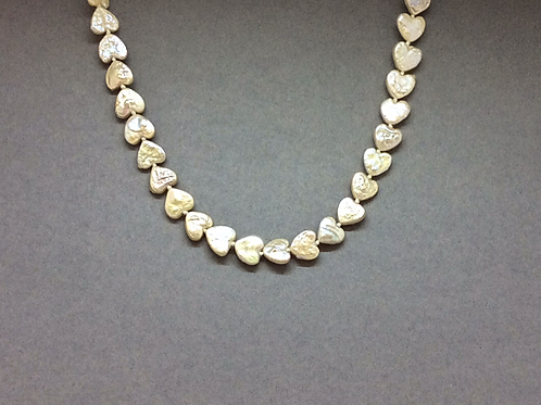 Oyster Tone Freshwater Heart Shape Pearl Necklace