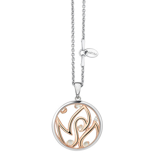 ASTRA INNER FIRE LOVE ROSE GOLD NECKLACE GIFT VALENTINE