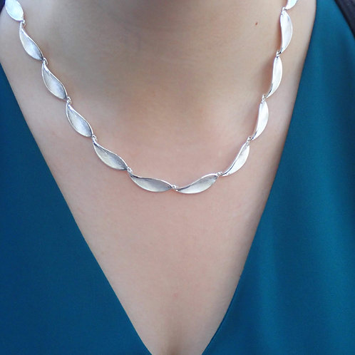 Frangipani  Necklace - Sterling Silver