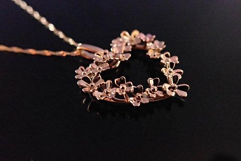 valentine heart love necklace irish gold diamond shamrock