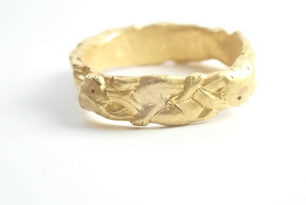 scandinavian gripping beast treasure trove ring