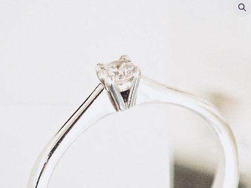 .15ct Diamond Solitaire Ring - Platinum