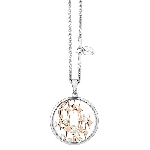 ASTRA CONSTELLATION SPACE ROSE GOLD MAYA NECKLACE STAR NAVIGATION CONGRATULATIONS