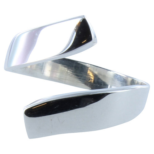 HIgh Shine Sterling Silver Exclaim Ring