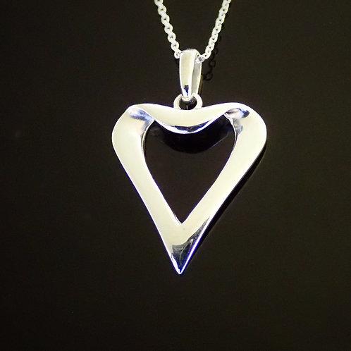 Ortak Heart Pendant -  Sterling silver