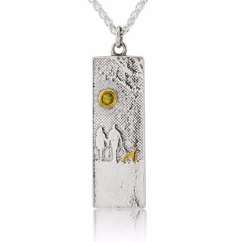Charlotte Lowe  -  Dog Lovers Necklace With Yellow Sapphire Sunshine