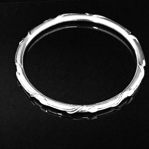 Arts and Crafts Style Bangle - Sterling Silver
