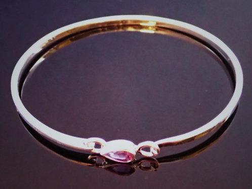 Pear Shaped Amethyst Bracelet- Sterling Silver