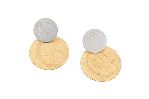 Deco Echo Disc Earrings - Sterling Silver